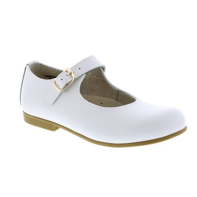 Footmates Girls Shoes - Laura Mary Janes - White