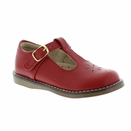 Footmates Girls Shoes - Sherry T-Strap - Apple Red