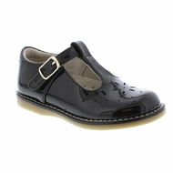Footmates Girls Shoes - Sherry T-Strap - Black Patent