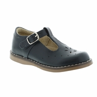 Footmates Girls Shoes - Sherry T-Strap - Navy Blue