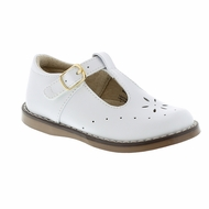 Footmates Girls Shoes - Sherry T-Strap - White