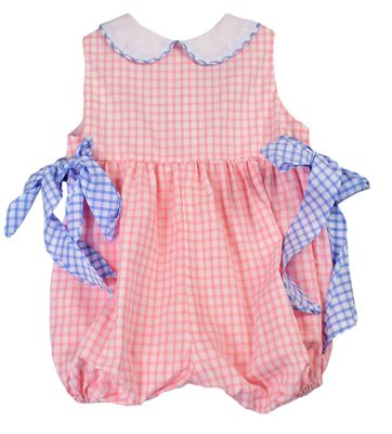 Funtasia Baby Girls Pink Check Bubble with Blue Bows