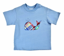 Funtasia Baby / Toddler Boys Plaid Whale on Blue Shirt