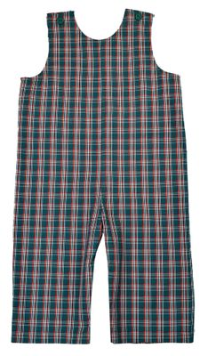 Funtasia Baby / Toddler Boys Green Holiday Plaid Longall