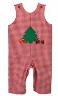 Funtasia Baby / Toddler Boys Red Gingham Reversible Christmas Tree Longall - Reverses to Dog with Valentine Heart