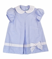 Funtasia Baby / Toddler Girls Blue Stripe Seersucker Float Dress with Bow