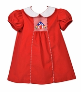 Funtasia Baby / Toddler Girls Red Corduroy Little House Float Dress