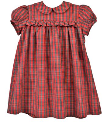 Funtasia Baby / Toddler Girls Red Holiday Plaid Ruffle Float Dress