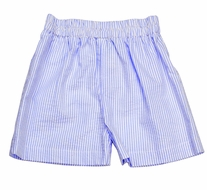 Funtasia Boys Pull On Shorts - Blue Stripe Seersucker