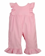 Funtasia Color Works Baby / Toddler Girls Corduroy Ruffle Romper - Pastel Pink