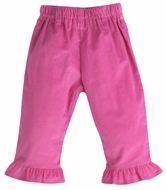 Funtasia Color Works Girls Pull On Ruffle Pants - Corduroy - Hot Pink