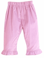 Funtasia Color Works Girls Pull On Ruffle Pants - Corduroy - Light Pink