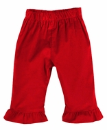 Funtasia Color Works Girls Pull On Ruffle Pants - Corduroy - Red