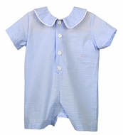 Funtasia Too Baby Boys Blue Check Seersucker Romper