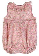 Funtasia Too Baby Girls Pink Floral Ruffle Neck Bubble