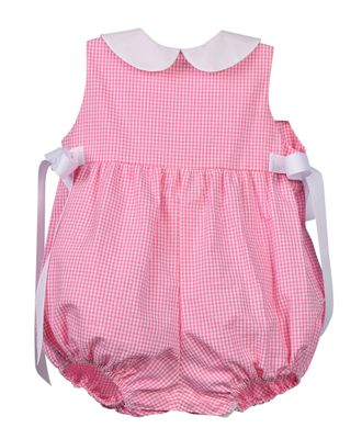 Funtasia Too Baby Girls Pink Gingham Bubble with Side Bows