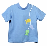 Funtasia Too Baby / Toddler Boys Blue Shirt - Applique Fish