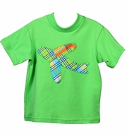 Funtasia Too Baby / Toddler Boys Lime Green Shirt - Plaid Airplane