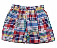 Funtasia Too Baby / Toddler Boys Madras Plaid Patchwork Shorts - Primary Colors