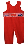 Funtasia Too Baby / Toddler Boys Red Corduroy Cars & Truck Longall