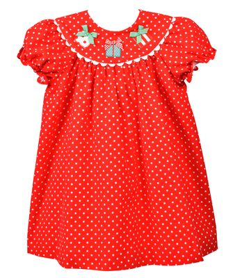 Funtasia Too Baby / Toddler Girls Red / White Dots Christmas Gifts Dress