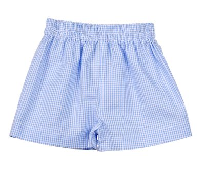 Funtasia Too Boys Blue Check Seersucker Pull On Shorts