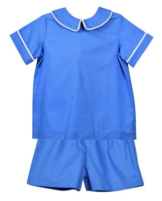 Funtasia Too Boys French Blue Dressy Shorts Set