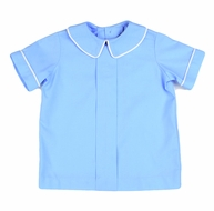 Funtasia Too Boys French Blue Pleat Front Shirt