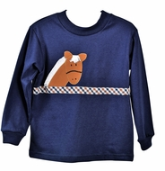 Funtasia Too Boys Navy Blue / Brown Horse Shirt