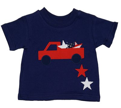 Funtasia Too Boys Navy Blue T-Shirt with Truck Full of Stars