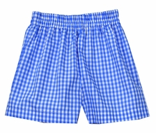Funtasia Too Boys Pull On Shorts - Blue Check