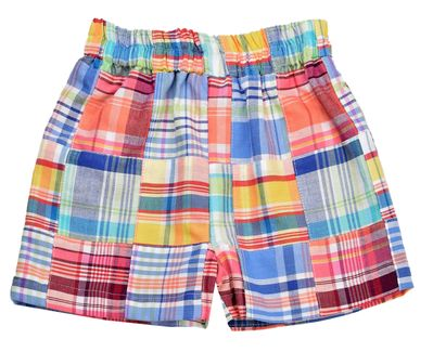 Funtasia Too Boys Pull On Shorts - Pastel Patchwork