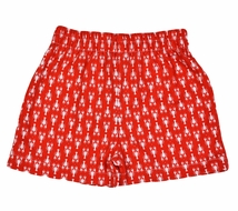 Funtasia Too Boys Pull On Shorts - Red Lobsters