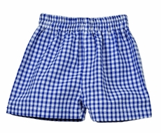 Funtasia Too Boys Pull On Shorts - Royal Blue Check