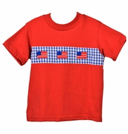 Funtasia Too Boys Red Patriotic Flags Shirt