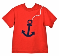 Funtasia Too Boys Red Shirt with Navy Blue Anchor