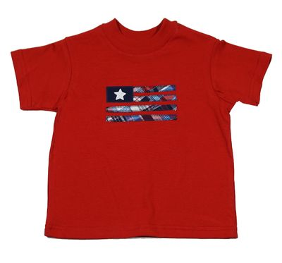 Funtasia Too Boys Red T-Shirt with Patriotic Flag