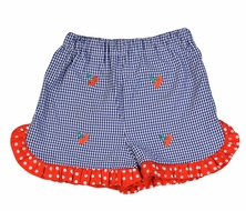 Funtasia Too Girls Blue Ruffle Shorts with Cherry Embroidery