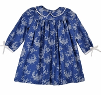 Funtasia Too Girls Blue / White Edelweiss Floral Dress
