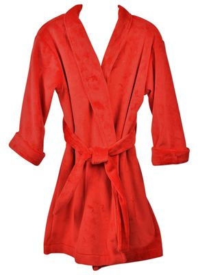 Funtasia Too Girls Christmas Red Minky Dots Housecoat Robe