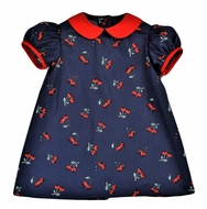 Funtasia Too Girls Navy Blue / Red Cherries Float Dress