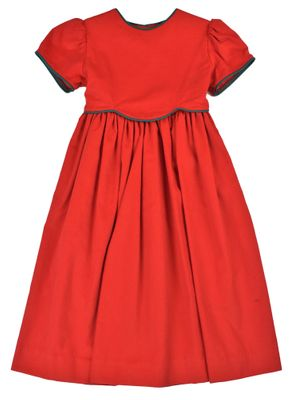 Funtasia Too Girls Red Christmas Dress with Scallop Bodice