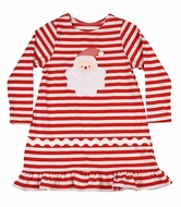 Funtasia Too Girls Red Stripe Knit Santa Claus Dress