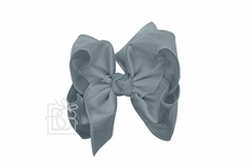 Girls Double Knot Bow on Clip - Silk Ribbon - Williamsburg Blue
