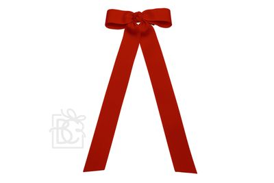 Beyond Creations Girls Grosgrain Bow with Streamer Tails - Red