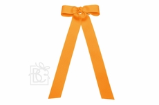 Girls Grosgrain Bow with Streamer Tails - Yellow Gold Mustard