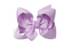 Girls Grosgrain Double Knot Bow on Clip - Light Orchid