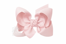 Girls Grosgrain Double Knot Bow on Clip - Light Pink