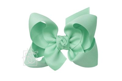 Beyond Creations Girls Grosgrain Double Knot Bow on Clip - Lucite Green