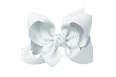 Girls Grosgrain Double Knot Bow on Clip - Powder Blue